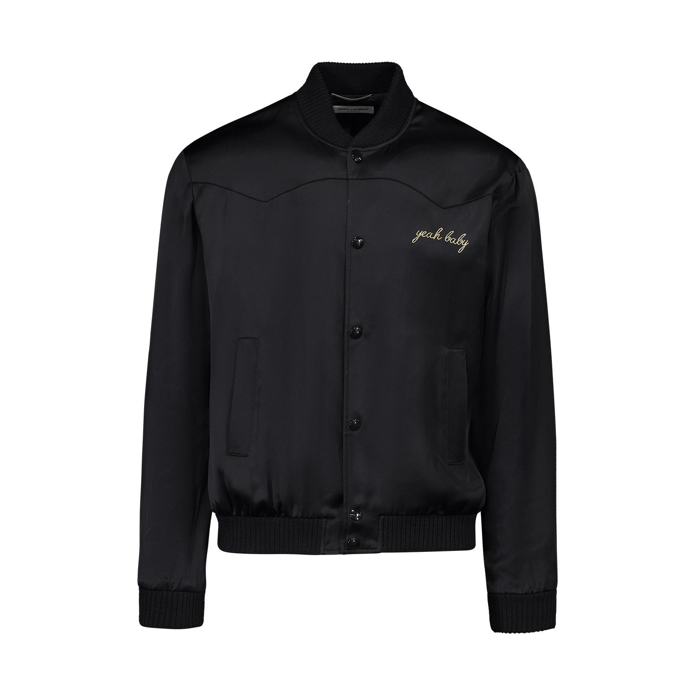 d9402c33db0 Saint Laurent Paris N/A - Saint Laurent Paris Black Satin