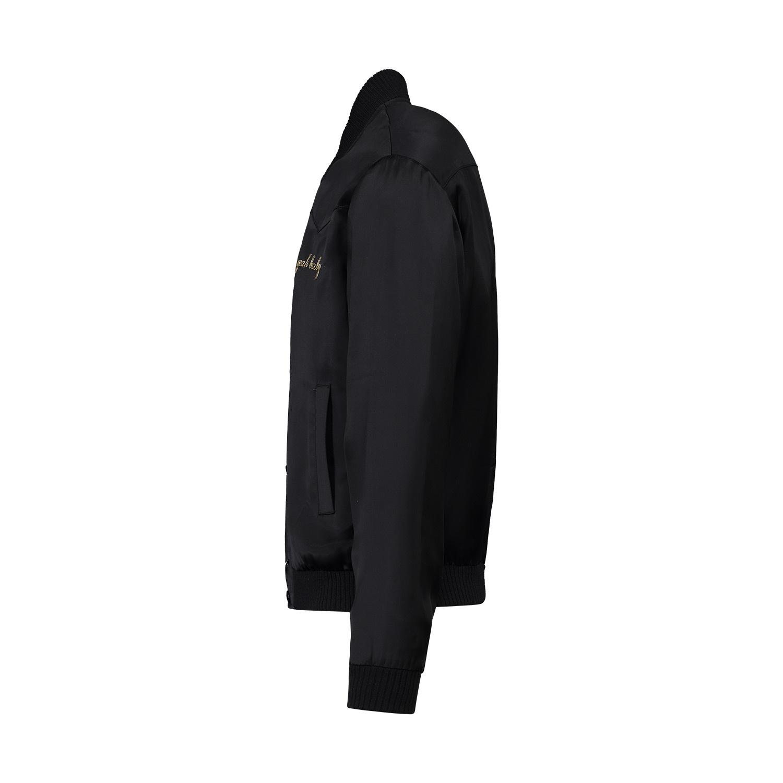 """Saint Laurent Paris N/A - Saint Laurent Paris Black Satin """"Yeah Baby"""" Bomber Jacket"""
