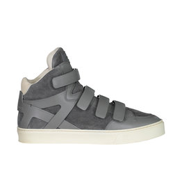 Louis Vuitton Louis Vuitton Grey Boxing Suede Multi-Strap High-top Sneakers