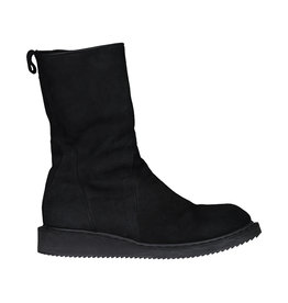 Rick Owens Rick Owens Black Suede Creeper Boots
