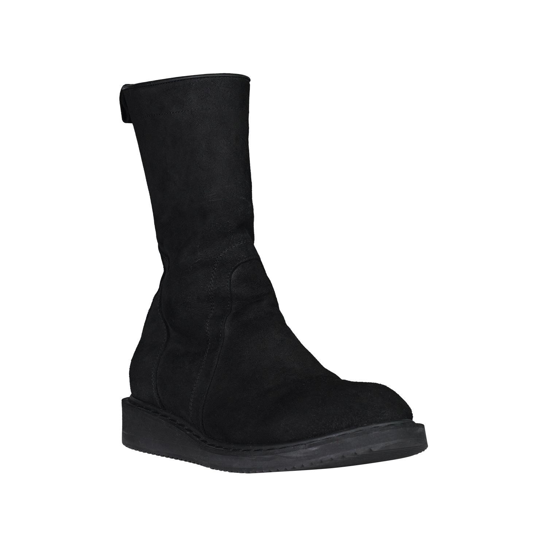 Rick Owens Rick Owens Black Suede Creeper Boots