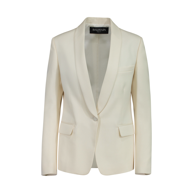 Balmain Balmain Ivory Wool Blazer
