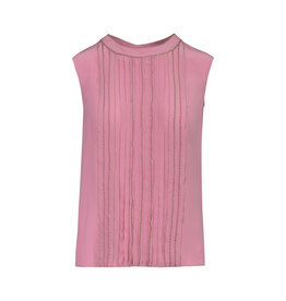 Prada Prada Sleeveless Pink Pleat Blouse