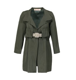 Marni Marni Safari Khaki Jacket with Cropped Sleeves