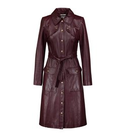 Erdem ON REQUEST - Erdem Burgundy Leather Trench