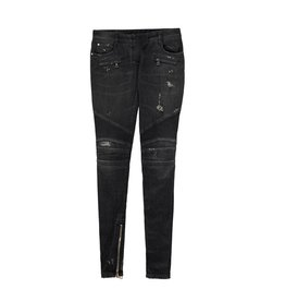 Balmain Balmain Black Distressed Biker Jeans