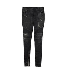 Balmain Balmain jeans noir délavé de style biker