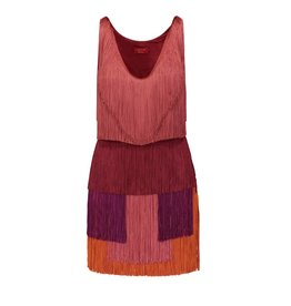 Lanvin Lanvin Short Tank Multicolor Tassel Dress