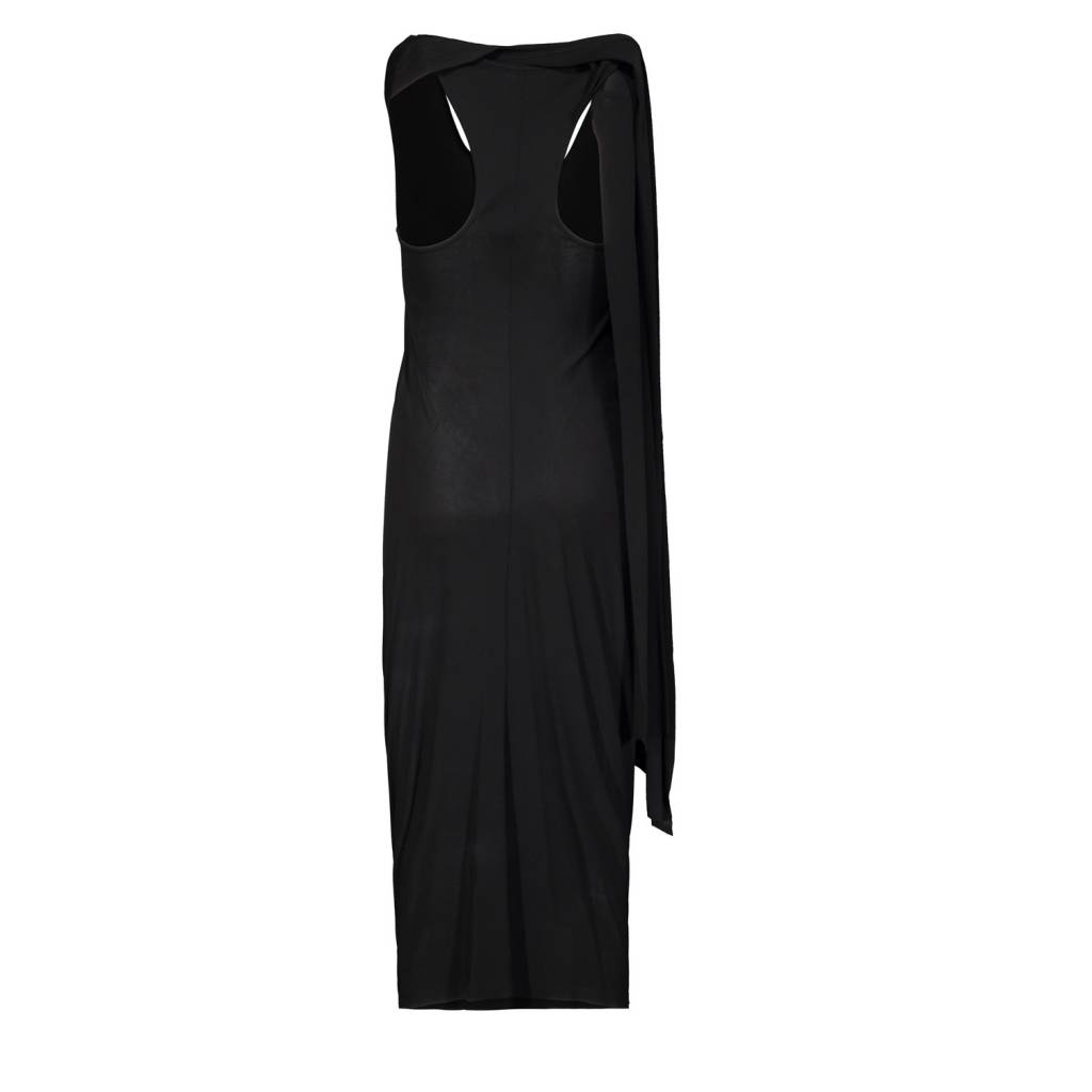 Alexander McQueen Alexander Mcqueen Black Long Dress with Scarf