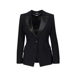 Alexander McQueen N/A - Alexander McQueen Black Crepe Blazer