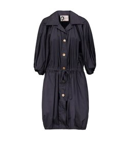 Lanvin Lanvin Navy Cotton Cropped-Sleeves Raincoat