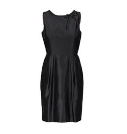 Dolce & Gabbana Dolce & Gabbana Black Silk Taffeta Dress