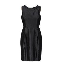 Dolce & Gabbana Dolce & Gabbana robe noire en soie taffeta