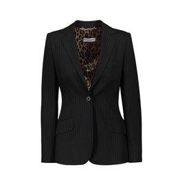 Dolce & Gabbana Dolce & Gabbana Pinstriped Black Blazer