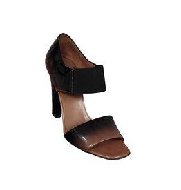 Prada N/A - Prada Dégradé Patent Heeled Sandals