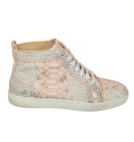 Christian Louboutin Louboutin Snakeskin High Top Sneakers
