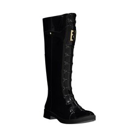 Fendi N/A - Fendi Lace-Up Rain Boots with Gold FF Hardware