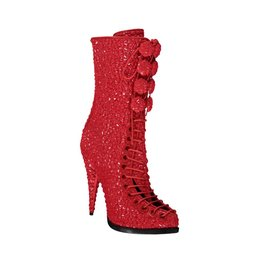 Givenchy N/A - Givenchy Red Runway Sequin Boots