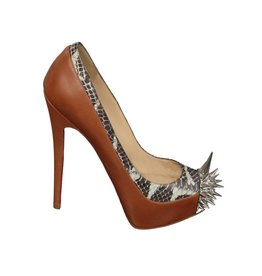 Christian Louboutin NON DISPONIBLE - Christian Louboutin escarpin Asteroid en peau de serpent