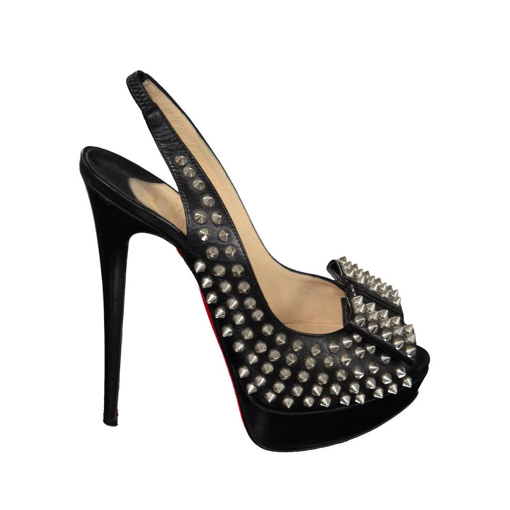 Christian Louboutin N/A - Christian Louboutin Leather Clou Noeud Spikes Sandals