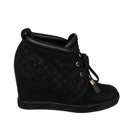 Louis Vuitton N/A - Louis Vuitton Suede High Heel Sneakers