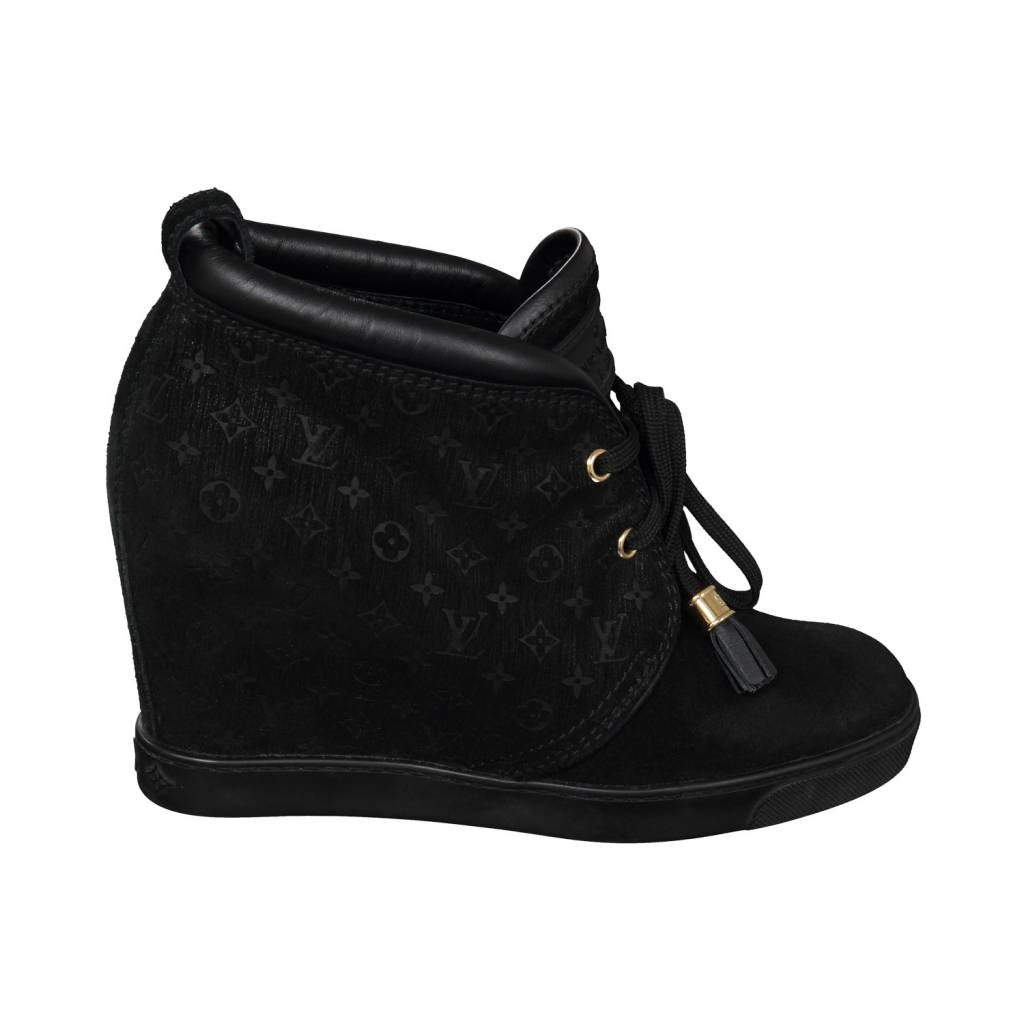 6fdf5896c502f Louis Vuitton N A - Louis Vuitton Suede High Heel Sneakers ...