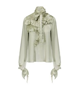 Givenchy Givenchy Silk Ruffled Blouse
