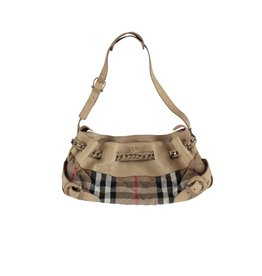 Burberry Burberry Leather Beige Tote