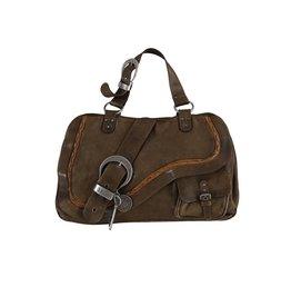 Christian Dior Christian Dior sac à main Gaucho en cuir brun
