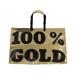 "Moschino Moschino ""100% Gold"" Oversized Vintage Tote"