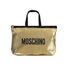 Moschino Moschino cabas vintage de couleur dorée et logo