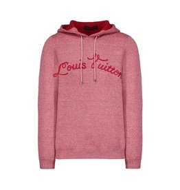Louis Vuitton NON DISPONIBLE - Louis Vuitton pull à capuche rouge avec signature brodée