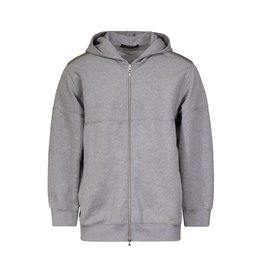 Louis Vuitton N/A - Louis Vuitton Grey Zip-Up Hoodie with Embossed Stitched Logo
