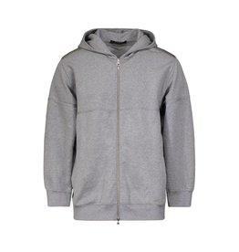 Louis Vuitton NON DISPONIBLE - Louis Vuitton pull à capuche et glissière gris avec logo brodé