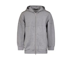 09471ba27ff1 Louis Vuitton Grey Zip-Up Hoodie with Embossed Stitched Logo - Boutique  LUC.S