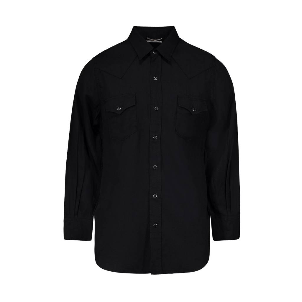 0ba806f9d7e Saint Laurent Paris Saint Laurent Paris Black Western Lyocell Shirt ...