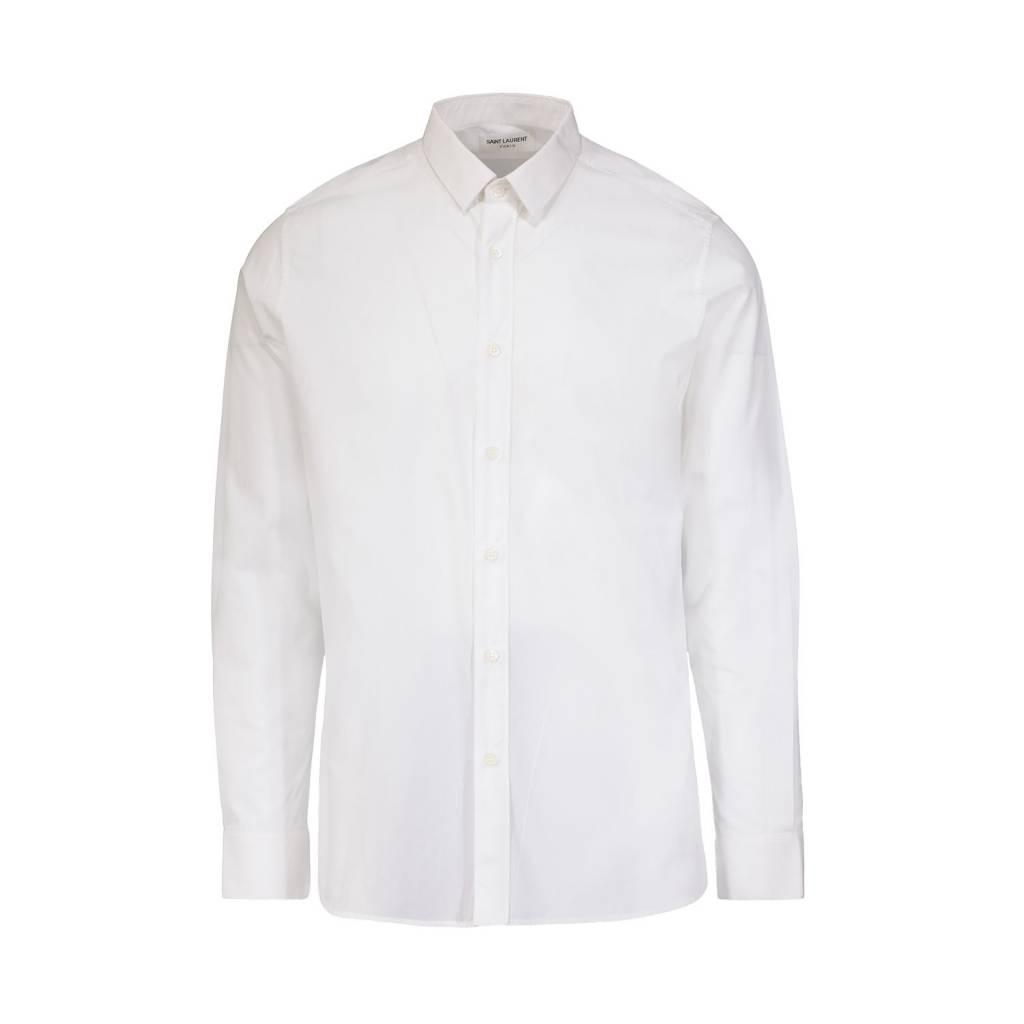 067c12ed3ff2 Saint Laurent Paris NON DISPONIBLE - Saint Laurent Paris chemise blanche à  manches longues ...