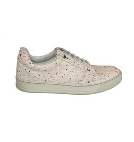 Lanvin Lanvin White Sneakers with Paint-Splatter Effect