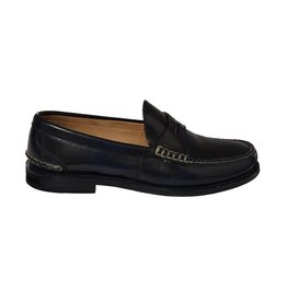 Gucci N/A - Gucci Navy Patent Penny Loafers