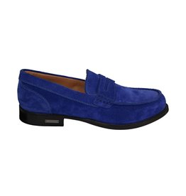 Dsquared2 N/A - Dsquared2 Cobalt Suede Penny Loafers