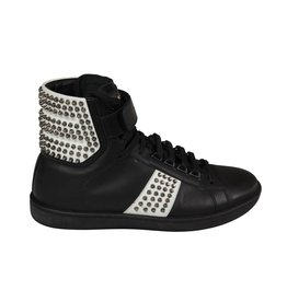 Saint Laurent Paris NON DISPONIBLE - Saint Laurent Paris baskets noires et blanches avec clous