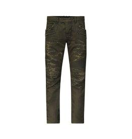 Balmain NON DISPONBLE - Balmain jeans motard kaki à effet usé