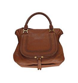 Chloé N/A - Chloé Large Camel Marcie Handbag