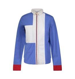 Céline NON DISPONIBLE - Céline chemise bleue bloc-couleurs