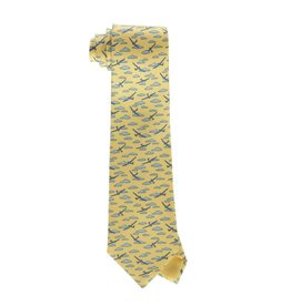 Hermès N/A - Hermes Yellow Planes and Clouds Tie