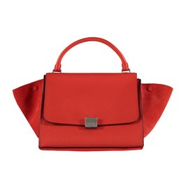 Céline N/A - Céline Orange Trapeze Shoulder Bag
