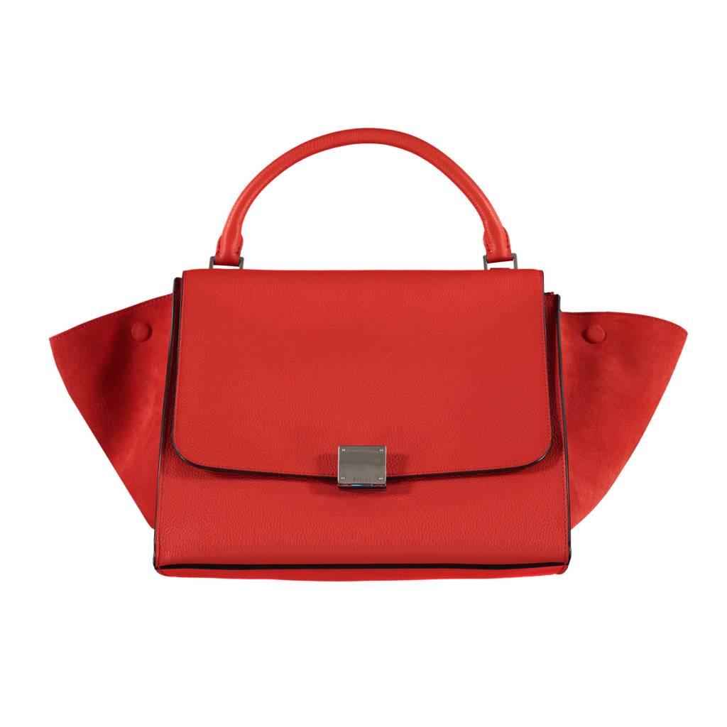 ba825f885 Céline N/A - Céline Orange Trapeze Shoulder Bag ...