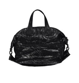Givenchy NON DISPONIBLE - Givenchy sac à main Nightingale noir en cuir patent