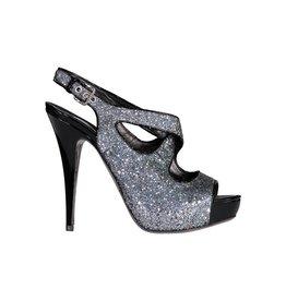 Miu Miu Miu Miu Silver Glitter Sandals