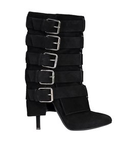 f5fe5a6d878 Giuseppe Zanotti Giuseppe Zanotti Suede Boots With Buckle Detail